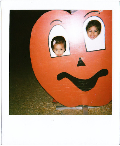 polaroid with the pumpkins