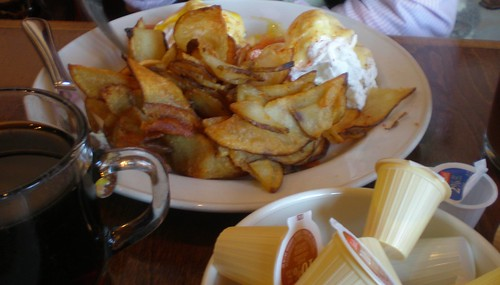 Rebellion Eggs are hiding behind the ample serving of kettles fries
