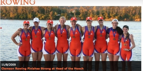 Clemson rowing... just wrong