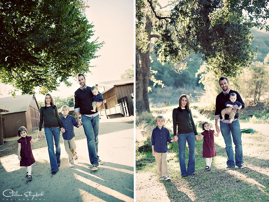 Paramount Ranch Agoura Christmas family portrait picture
