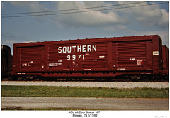 SOU All-Door Boxcar 9971 (Robert W. Thomson) Tags: railroad train tennessee railway trains southern railcar traincar boxcar sr sou southernrailway rollingstock etowah alldoorboxcar alldoorcar