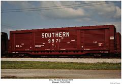 SOU All-Door Boxcar 9971 (Robert W. Thomson) Tags: railroad train tennessee railway trains southern railcar traincar boxcar sr sou southernrailway rollingstock etowah alldoorboxcar alldoorcar