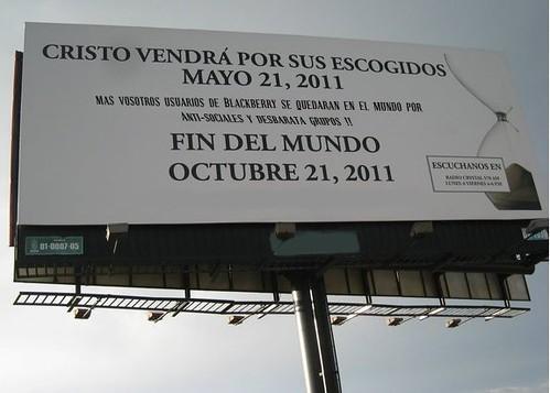 anuncio en la calle de RD