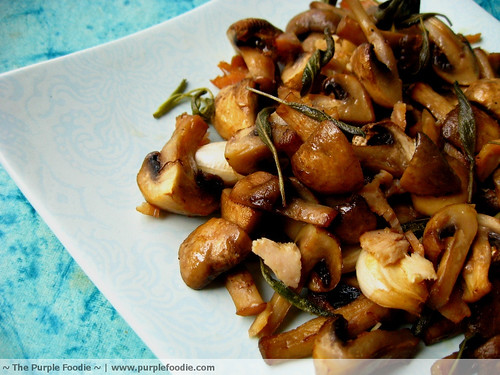 Mushrooms with Bacon and Sage