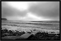 Fog over Liscannor Bay (Volker Becker) Tags: ireland bw coclare liscannorbay