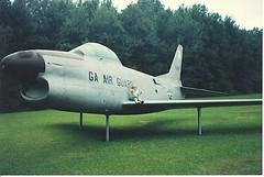 F-86D jet (n303wr) Tags: savannah usaf jetfighter northamericanaviation f86d gaang n303wr