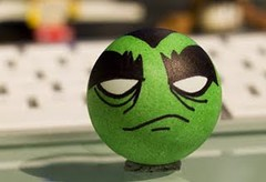 the green monster : my designer ping pong ball