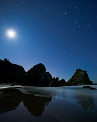 Oregon Coast - Stars (Jesse Estes) Tags: ocean sunset oregon coast sunstar rockarch jesseestes 5dii