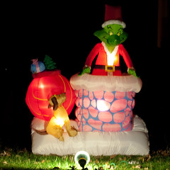 and the grinch riseth finstre tags christmas decorations night rising lights greensboro grinch