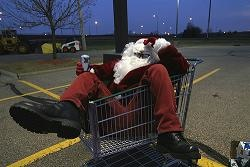 The reason Santa needs to eat milk and cookies... is that he just lost them!
