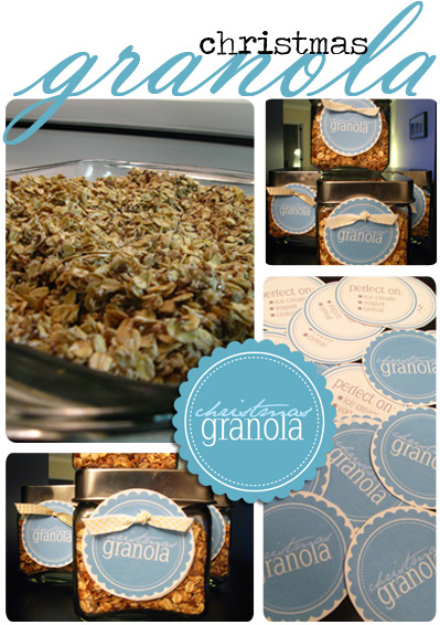 Making Christmas Granola