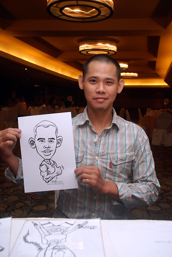 Caricature live sketching for Hock Cheong Printing Pte Ltd D&D 2009 - 1