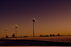 Winter-The Wind & The Snow.... (Chris H#) Tags: winter snow wind northamptonshire fields windfarm s3000 windturbines cranfordstjohn thesunwasjustsetting turnines nikond5000 itwasmorethan10degreesc itwassocolditwasbloodyfreezing winterthewindthesnow threeturbines