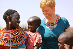Warm welcome in a Samburu Village (mikel.hendriks) Tags: africa woman smile children geotagged beads warm village kenya african traditional explore welcome tribe samburu nomads tms tellmeastory canonef50mmf18ii canoneos50d