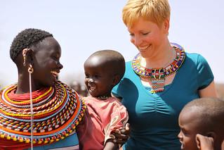 Warm welcome in a Samburu Village
