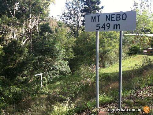 Mt Nebo sign