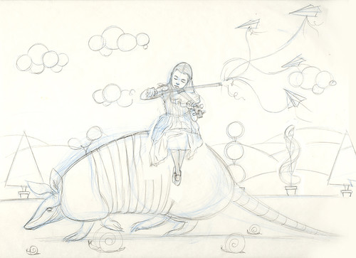 WIP - Armadillo Dream (rough sketch)