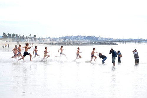 Venice Beach Penguin Club New Year's Day Swim 1