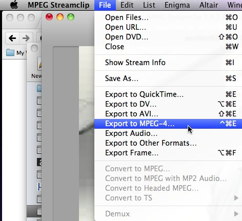 MPEG Streamclip - Export to MPEG-4
