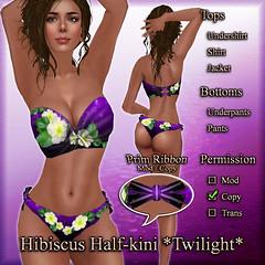 Hibiscus Half-kini (Twilight) Twilight