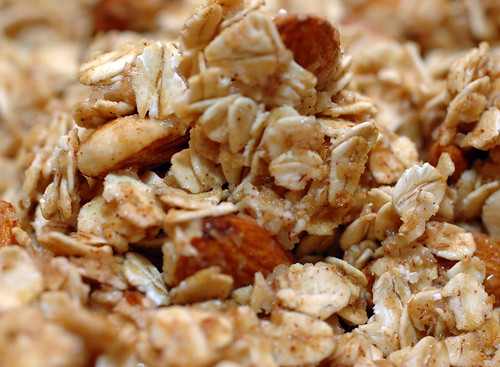 Granola with almonds