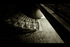 Harry Brown (Danny Beattie) Tags: bridge light stairs contrast darkness sony tunnel salford michaelcaine harrybrown a300 1118mm