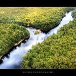 Seaplane View of the Franklin & Gordon River, Tasmania :: P-HDR