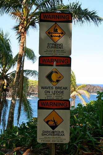 Wai'anapanapa State Park warnings