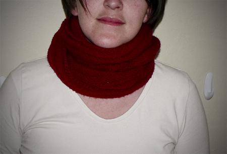 moebius scarf neck wrap knit