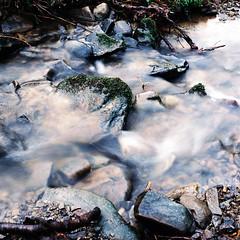 [End Of The Day (Silence)] (uderaglassbell) Tags: 120 water analog mediumformat flow rocks stream long exposure kodak hasselblad 2010 500cm endoftheday c41 hasselblad500cm nd8 underaglassbell ektar100 hasselbladv czeiss80tplanarf28