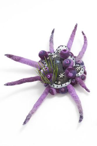 Purple Parasite Brooch