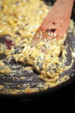 scrambling eggs & truffles