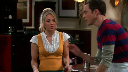 Sheldon is explaining three most mind-numbing, pedestrian jobs in The Big Bang Theory S03E14 (2010, CBS, screen capture)