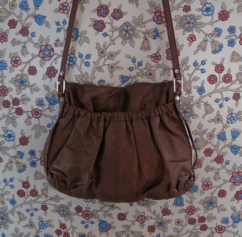 vintage gathered purse