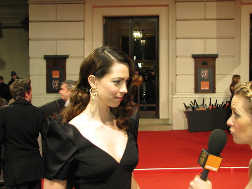 BAFTA: Rebecca Hall on the Red Carpet