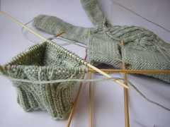 Glove in progress