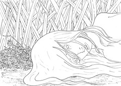 ophelia 4 (TFG) Tags: pen ink ophelia drowned