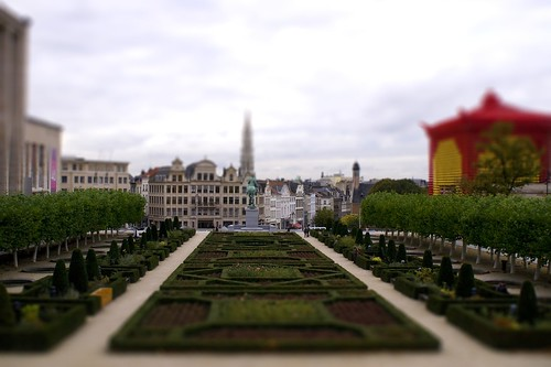 tilt shift Brussels