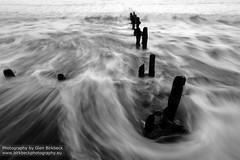 Maelstrom (~Glen B~) Tags: sea bw white black coast surf tide groyne groynes sandsend