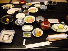 00000209 Onsen Breakfast (mari-ten) Tags: food japan table fire hotel rice furniture tofu beverage  japanesefood misosoup greentea 2008 kansai tamagoyaki mie shima  tsukemono eastasia   umeboshi    whiterice samma  hojicha  kashikojima       200809 20080928   hojoen onsenstay