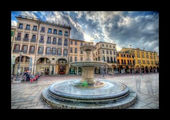 Piazza delle Erbe (SLO-D300) Tags: road park city trip travel sky italy cloud tourism beautiful architecture clouds amazing nice nikon perfect italia tour view superb path unique awesome sigma grand tourist journey stunning excellent piazza lovely incredible 1020 hdr breathtaking padova erbe padua veneto d300 delle photomatix slod300