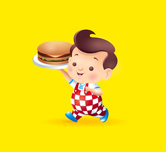 Bob's Big Boy (Jerrod Maruyama) Tags: cute mascot commercial hamburger kawaii childrensart bobsbigboy characterillustration jerrodmaruyama
