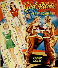 Girl Pilots of the Ferry Command_ft_tatteredandlost (T and L basement) Tags: wasp ephemera worldwarii paperdoll womenpilots womenairforceservicepilots womenaviators girlpilotsoftheferrycommand merrilpublishing 1943paperdolls