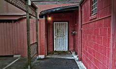 Sushi House (msuner48) Tags: red restaurant d200 backdoor emeryvilleca sushihouse cs4 tokina1116mmf28 topazadjust4