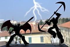 The duel (Giovanni V.) Tags: robot kaiser goldrake grendizer mazinger mazinkaiser mazinga revoltech