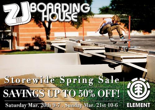 ZJ Boarding House spring sale
