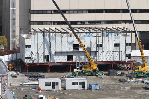 c76d60896498 大阪梅田の再開発をじっくりと定点観測してみるブログ | プレハブ建設 ...