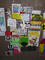 Sticker Combo Detail 1 (Poor Kid One......) Tags: chicago stickers dude crew logansquare bnw yank combo slaps poorkid oade bnwsoffthewall
