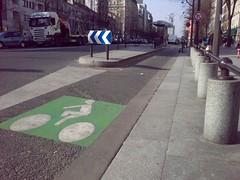 巴黎自行車道入口標示