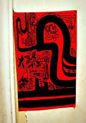 Adesivo Verm elho (Tahian) Tags: red planta lines rio brasil de sketch rojo janeiro drawing amor natureza vermelho garrafa desenho linear 2010 atelier bhering caneto adesivo estrutura rabisco tahian mapoteca